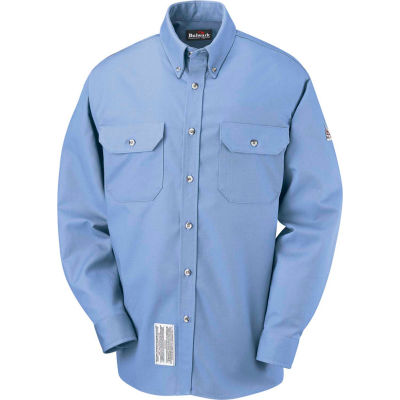 EXCEL FR® ComforTouch® FR Dress Uniform Shirt SLU2, Light Blue, Size XL Regular