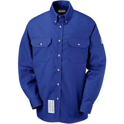 EXCEL FR® ComforTouch® FR Dress Uniform Shirt SLU2, Royal Blue, Size M Long