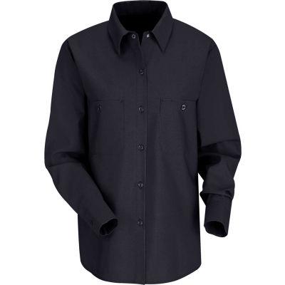 Red Kap® Women's Industrial Work Shirt Long Sleeve Navy Regular-L SP13
