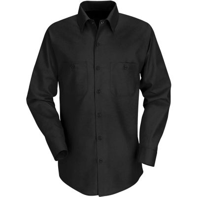 Red Kap® Men's Industrial Work Shirt Long Sleeve Black Regular-4XL SP14