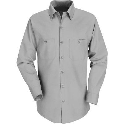 Red Kap® Men's Industrial Work Shirt Long Sleeve Light Gray Regular-3XL SP14