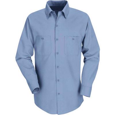 Red Kap® Men's Industrial Work Shirt Long Sleeve Light Blue Long-3XL SP14