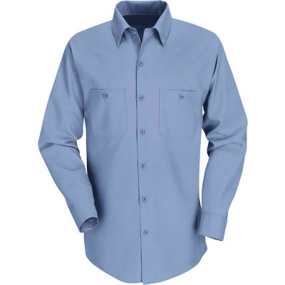 Red Kap® Men's Industrial Work Shirt Long Sleeve Light Blue Long-5XL SP14