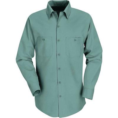 Red Kap® Men's Industrial Work Shirt Long Sleeve Light Green Regular-XL SP14