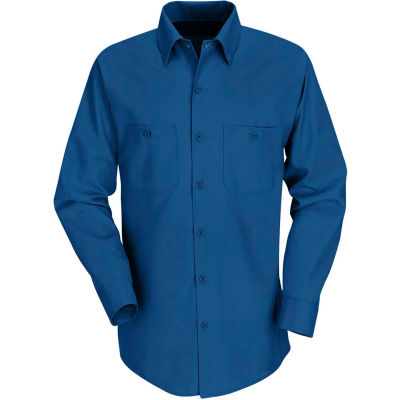 Red Kap® Men's Industrial Work Shirt Long Sleeve Royal Blue Regular-M SP14
