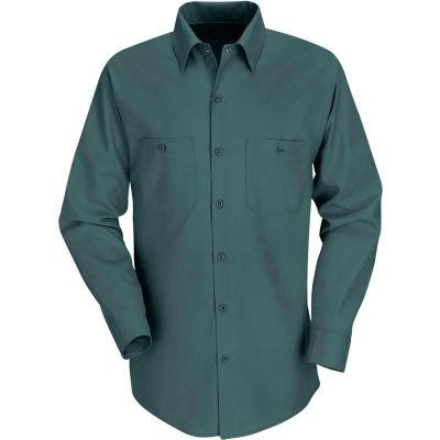 Red Kap® Men's Industrial Work Shirt Long Sleeve Spruce Green Regular-3XL SP14