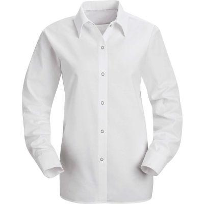 Red Kap® Men's Specialized Pocketless Polyester Work Shirt Long Sleeve White Regular-S SP15