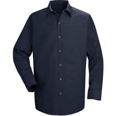 Red Kap® Men's Specialized Pocketless Polyester Work Shirt Long Sleeve Navy Long-XL SP16