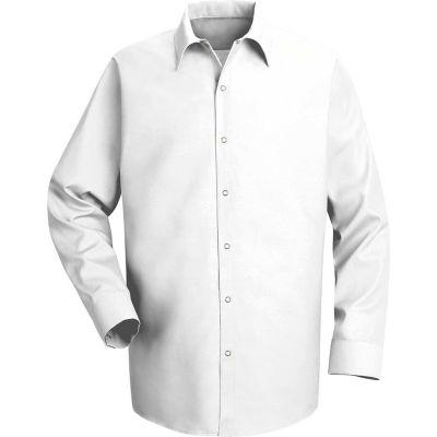 Red Kap® Men's Specialized Pocketless Polyester Work Shirt Long Sleeve White Long-L SP16