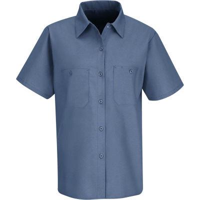 Red Kap® Women's Industrial Work Shirt Short Sleeve Petrol Blue XL SP23