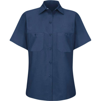 Red Kap® Women's Industrial Work Shirt Short Sleeve Navy XL SP23