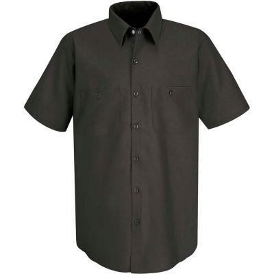 Red Kap® Men's Industrial Work Shirt Short Sleeve Charcoal L SP24