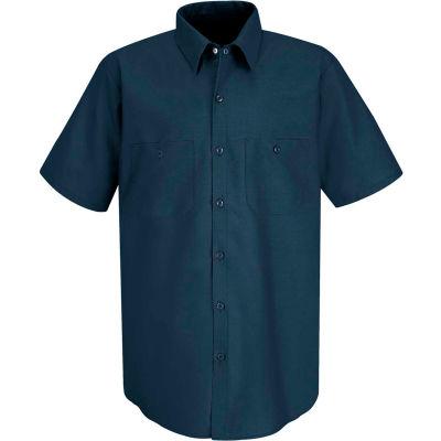 Red Kap® Men's Industrial Work Shirt Short Sleeve Dark Blue 3XL SP24