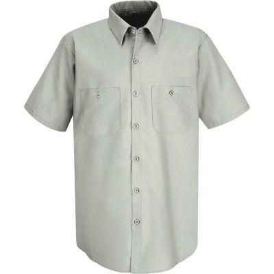 Red Kap® Men's Industrial Work Shirt Short Sleeve Light Gray M SP24