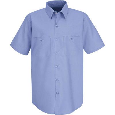 Red Kap® Men's Industrial Work Shirt Short Sleeve Light Blue S SP24