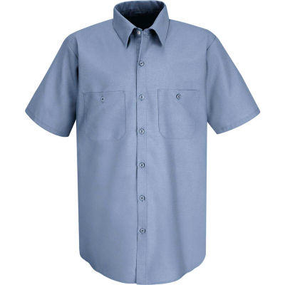 Red Kap® Men's Industrial Work Shirt Short Sleeve Petrol Blue Long-3XL SP24