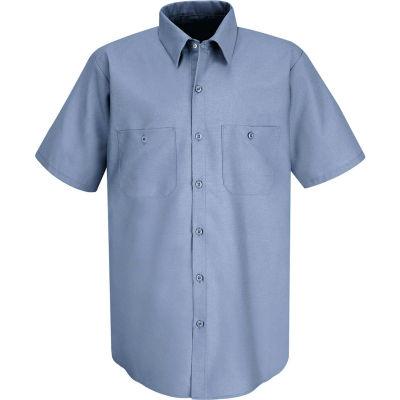 Red Kap® Men's Industrial Work Shirt Short Sleeve Petrol Blue Long-M SP24
