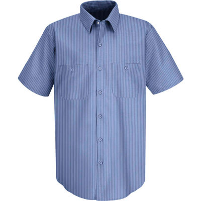 Red Kap® Men's Durastripe Work Shirt Medium Blue/Light Blue Twin Stripe S SP24-SP24MLSSS
