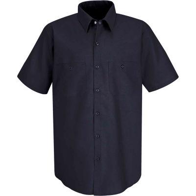 Red Kap® Men's Industrial Work Shirt Short Sleeve Navy 5XL SP24