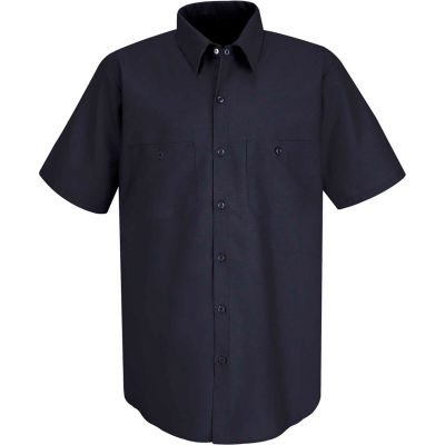 Red Kap® Men's Industrial Work Shirt Short Sleeve Navy Long-2XL SP24