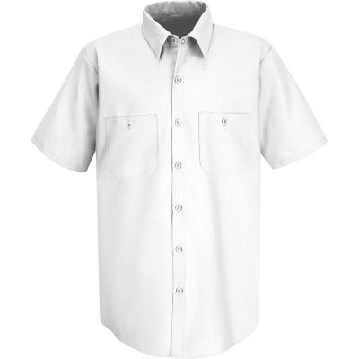 Red Kap® Men's Industrial Work Shirt Short Sleeve White 5XL SP24