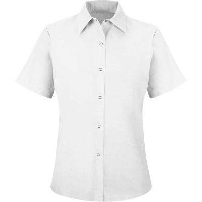 Red Kap® Men's Specialized Pocketless Polyester Work Shirt Short Sleeve White 4XL SP25