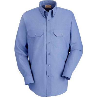 Red Kap® Men's Solid Dress Uniform Shirt Long Sleeve Petrol Blue L-323 SP50