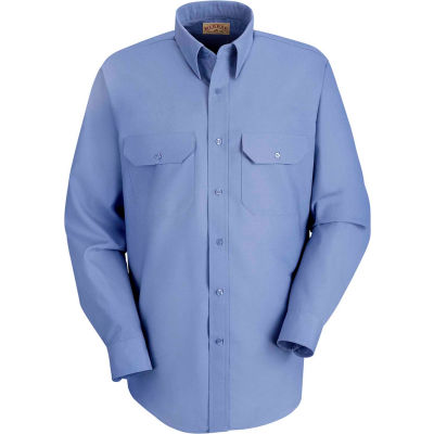 Red Kap® Men's Solid Dress Uniform Shirt Long Sleeve Petrol Blue 2XL-345 SP50