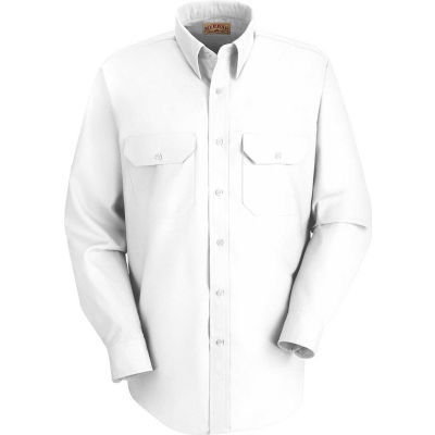 Red Kap® Men's Solid Dress Uniform Shirt Long Sleeve White 2XL-367 SP50