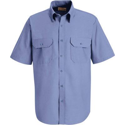 Red Kap® Men's Solid Dress Uniform Shirt Short Sleeve Petrol Blue L SP60