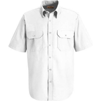 Red Kap® Men's Solid Dress Uniform Shirt Short Sleeve White S SP60