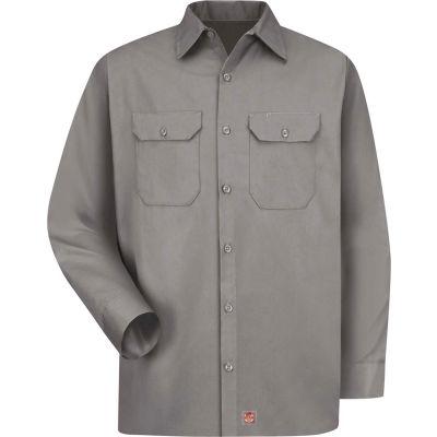 Red Kap® Men's Utility Uniform Shirt Long Sleeve Silver Long-L ST52