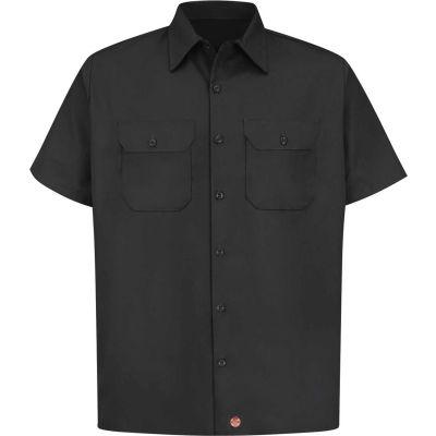 Red Kap® Men's Utility Uniform Shirt Short Sleeve Black 3XL ST62