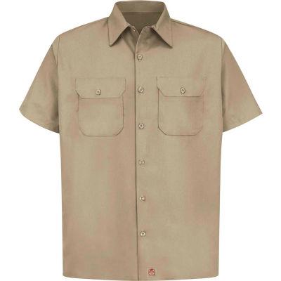 Red Kap® Men's Utility Uniform Shirt Short Sleeve Khaki 4XL ST62