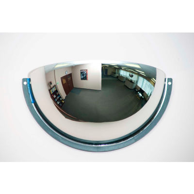 """Global Industrial™ Half Dome Acrylic Mirror, Indoor, 18"""" Dia., 180° Viewing Angle"""
