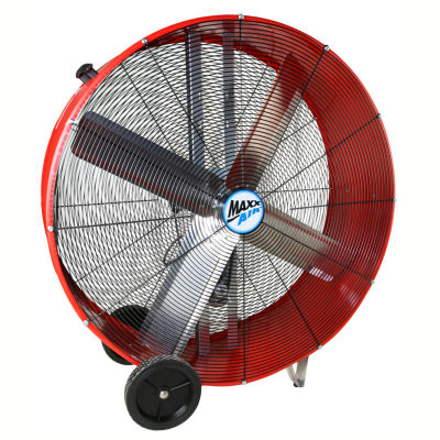 """MaxxAir™ 42"""" Belt Drive Heavy Duty Portable Barrel Fan BF42BD RED 13300 CFM"""
