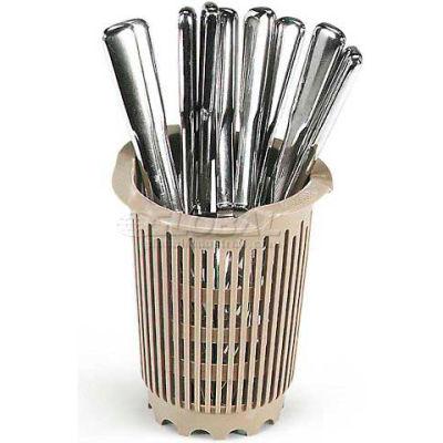 """Vollrath, Traex Plastic Flatware Cylinder Storage System, 1370, 4-1/2"""" Diameter, Beige - Pkg Qty 36"""
