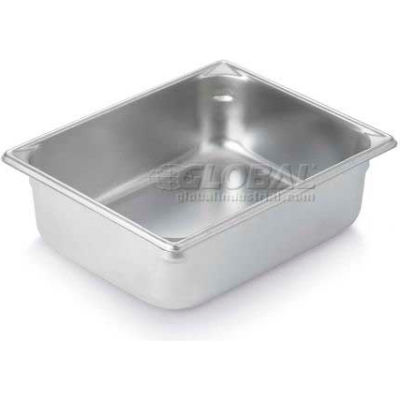 "Vollrath, Super Pan V Stainless Steam Table Pan, 30242, 4"" Depth, 1/2"" Size - Pkg Qty 6"