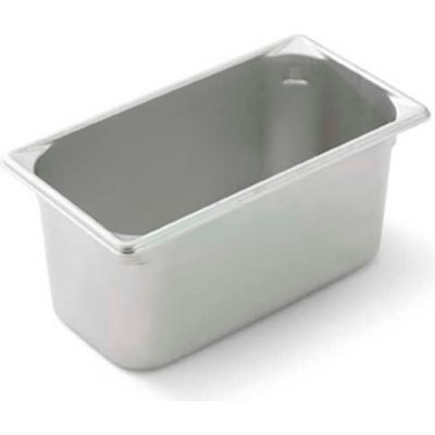 """Vollrath, Super Pan V Stainless Steam Table Pan, 30362, 6"""" Depth, 1/3 Size - Pkg Qty 6"""