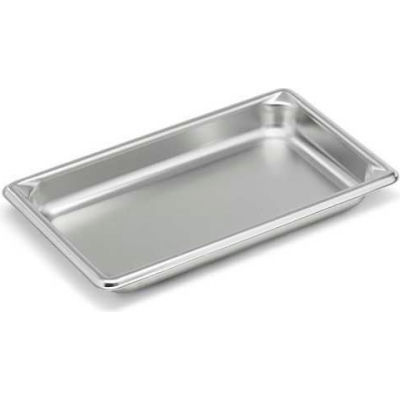 """Vollrath, Super Pan V Stainless Steam Table Pan, 30412, 1-1/4"""" Depth, 1/4"""" Size - Pkg Qty 6"""