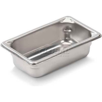 """Vollrath, Super Pan V Stainless Steam Table Pan, 30922, 2"""" Depth, 1/9 Size - Pkg Qty 6"""