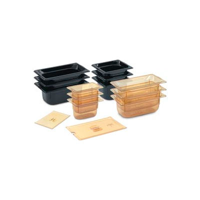 1/6 Slotted Super Pan 3® Cover - Amber - Pkg Qty 6