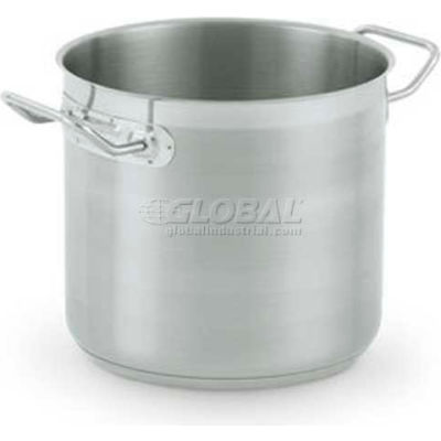 "Vollrath, Optio Stock Pot, 3503, 9-1/2"" Depth, 21 Gauge, With Cover - Pkg Qty 2"