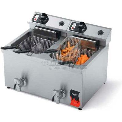 Vollrath, Cayenne Dual Countertop 15 Lb. Medium Duty Electric Fryers, 40710, W/ Drain, 2 X 15 Lb.