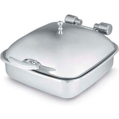 Vollrath, Intrigue Square 6 Quart Induction Chafer, 46132, W/ Stainless Steel Food Pan, Solid Top