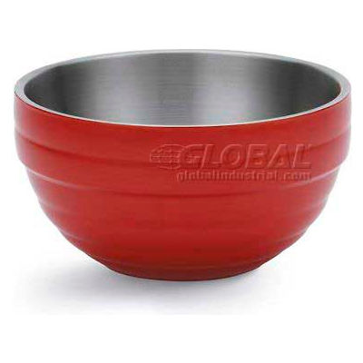 Vollrath, Double-Wall Insulated Serving Bowl, 4658755, 0.75 Quart, Fire Engine Red - Pkg Qty 6