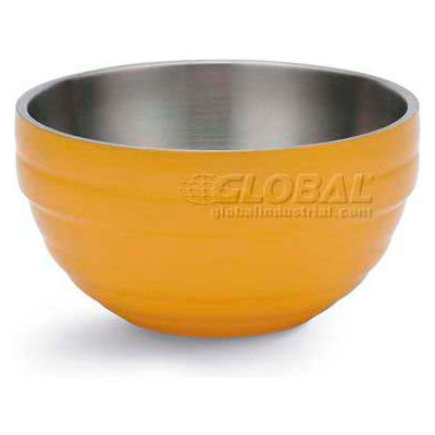 Vollrath, Double-Wall Insulated Serving Bowl, 4659045, 1.7 Quart, Nugget Yellow - Pkg Qty 6
