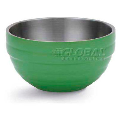 Vollrath, Double-Wall Insulated Serving Bowl, 4659135, 3.4 Quart, Green Apple - Pkg Qty 6