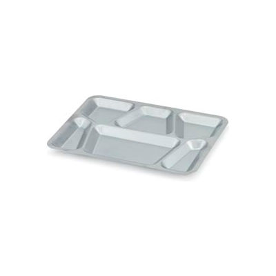 Vollrath® 47252 - Six-Compartment Stainless Steel Tray - Pkg Qty 24