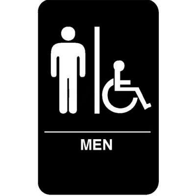 "Vollrath, Men/Accessible Braille Symbol Sign, 5631, 6"" X 9"""